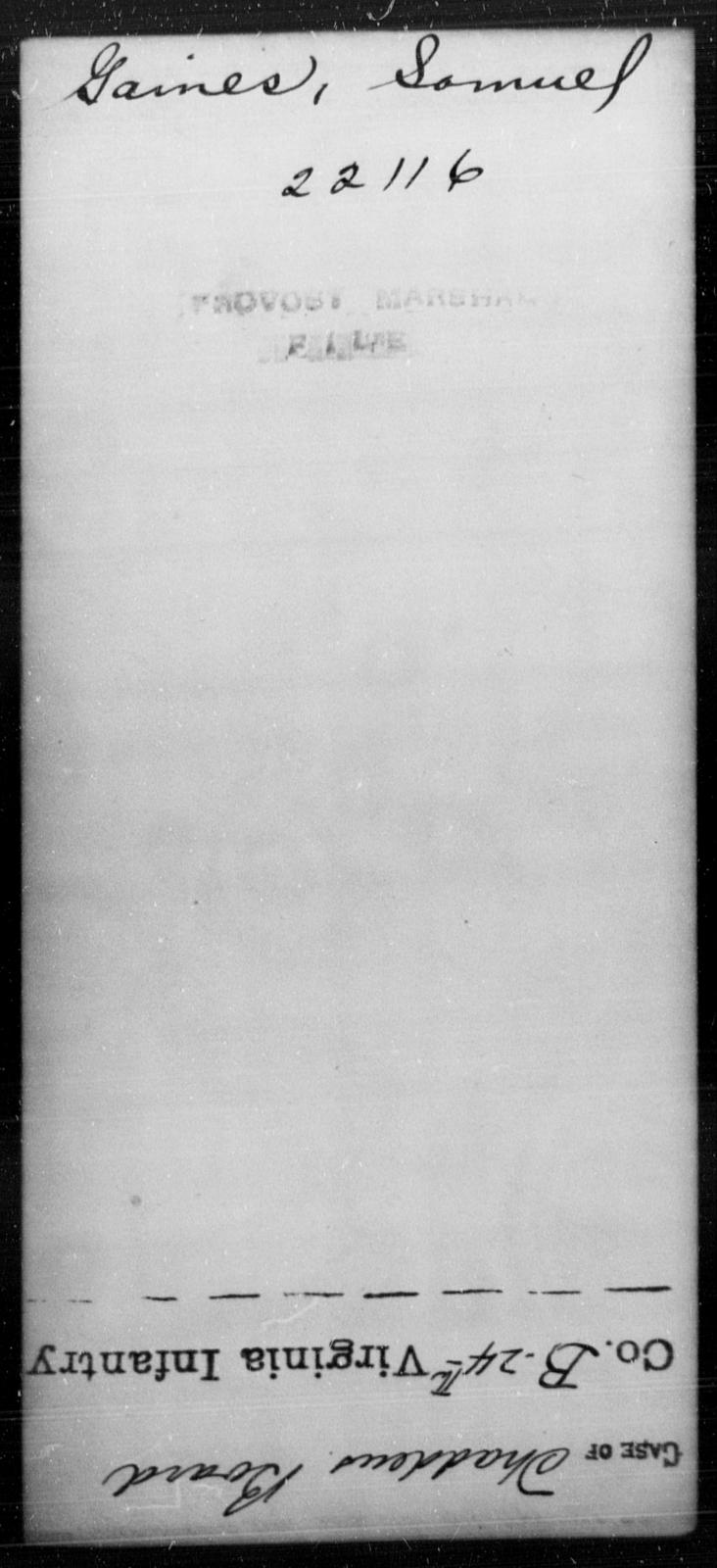 Gaines, Samuel - State: [Blank] - Year: [Blank]
