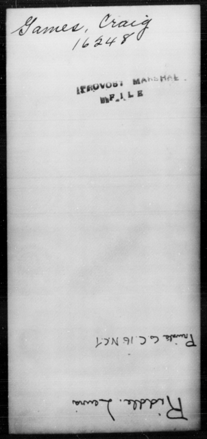 Games, Craig - State: [Blank] - Year: [Blank]