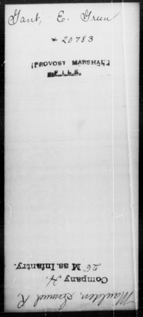 Gant, E Green - State: [Blank] - Year: [Blank]
