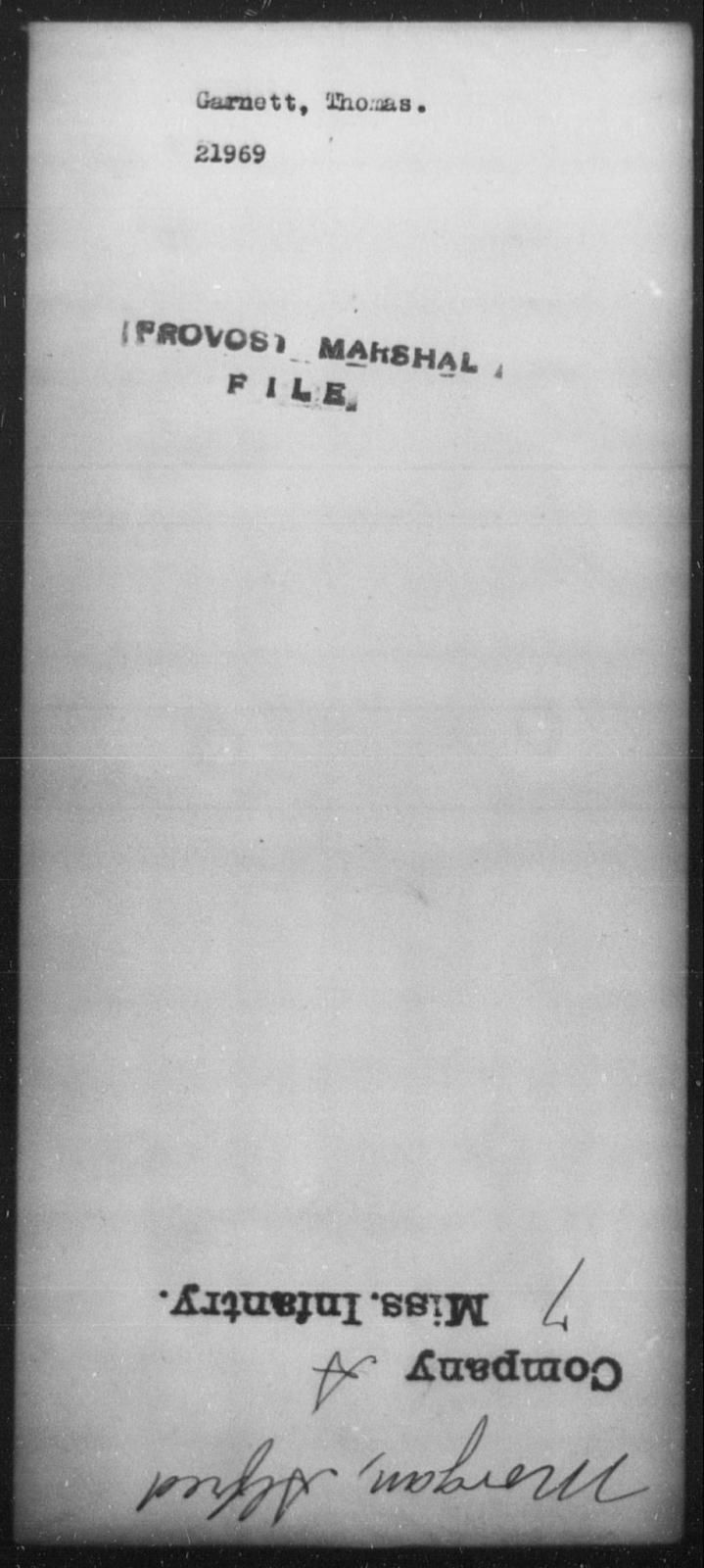 Garnett, Thomas - State: [Blank] - Year: [Blank]