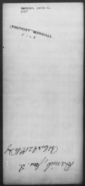 Garnier, Lewis C - State: [Blank] - Year: [Blank]