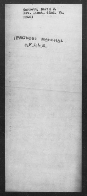 Garrett, David W - State: Virginia - Year: [Blank]