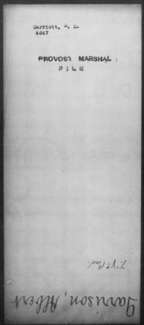 Garriott, E M - State: [Blank] - Year: [Blank]