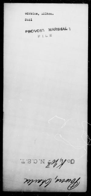 Gibbins, Milton - State: [Blank] - Year: [Blank]