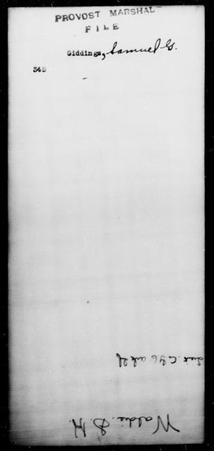 Giddings, Samuel G - State: [Blank] - Year: [Blank]