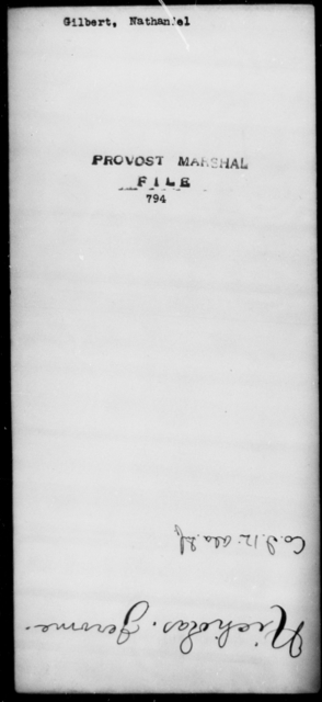 Gilbert, Nathaniel - State: [Blank] - Year: [Blank]