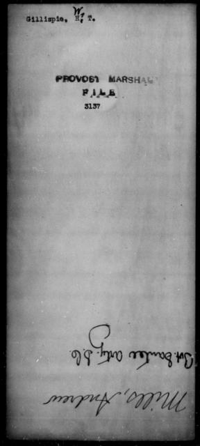 Gillispie, W T - State: [Blank] - Year: [Blank]