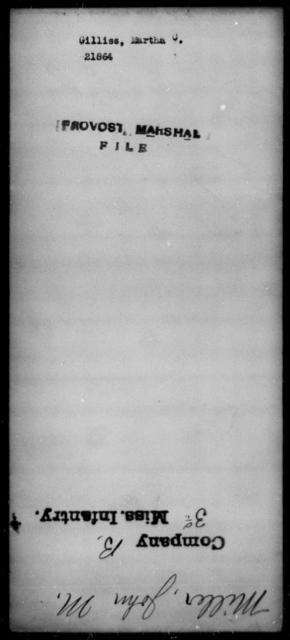 Gilliss, Martha C - State: [Blank] - Year: [Blank]
