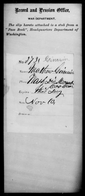 Ginerin, Mathew - State: Washington - Year: [Blank]