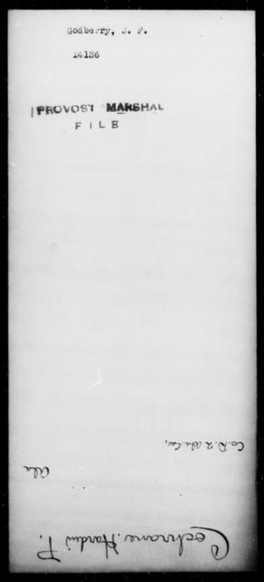 Godberry, J F - State: [Blank] - Year: [Blank]