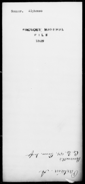 Gonnor, Alphonso - State: Arkansas - Year: [Blank]