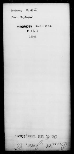 Goodman, W T - State: [Blank] - Year: [Blank]
