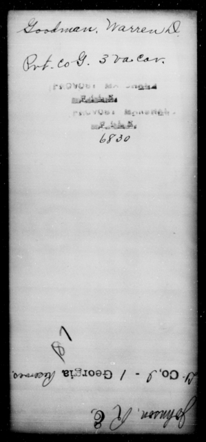 Goodman, Warren D - State: Virginia - Year: [Blank]
