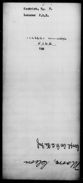 Goodrich, C N - State: [Blank] - Year: [Blank]
