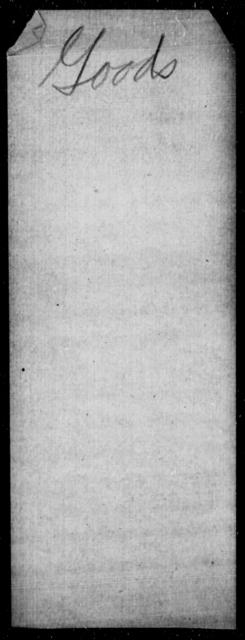 Goods, [Blank] - State: South Carolina - Year: 1863