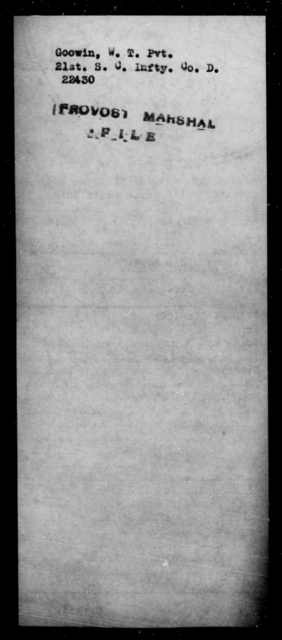 Goowin, W T - State: [Blank] - Year: [Blank]