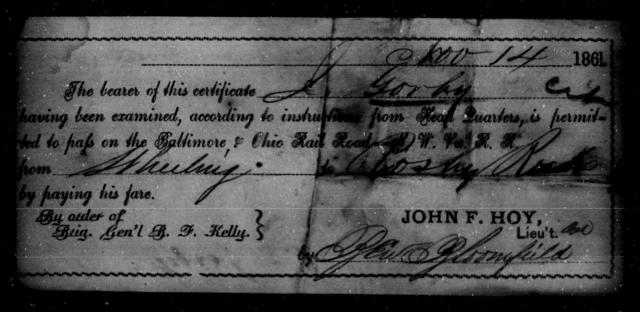 Gordon, J - State: Ohio - Year: 1861