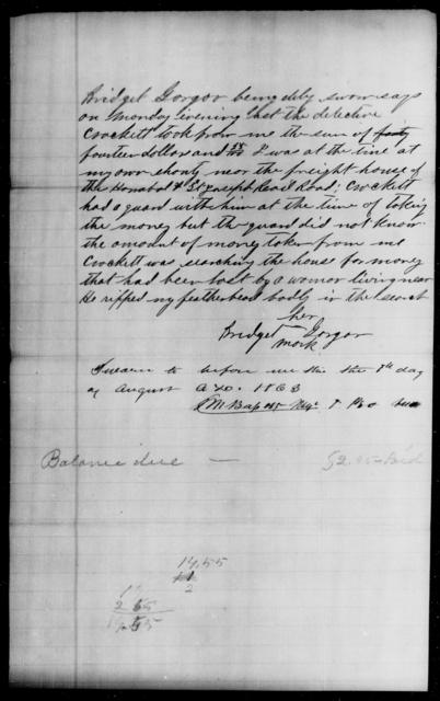 Gorgor, Bridget - State: [Blank] - Year: 1863