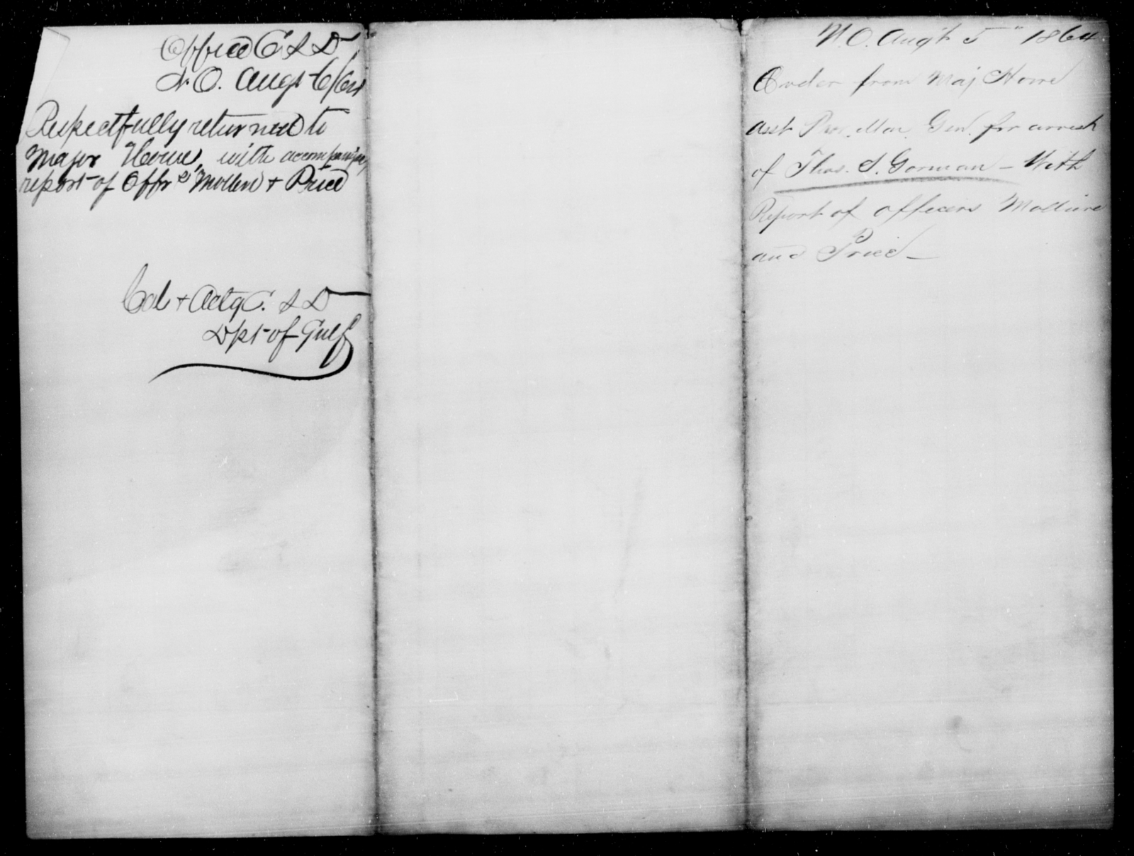 Gorman, Thos S - State: [Blank] - Year: 1864