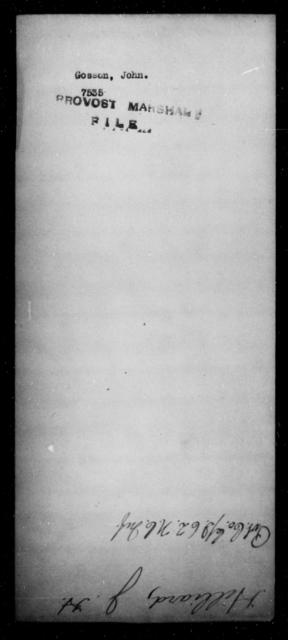 Gosson, John - State: Virginia - Year: [Blank]
