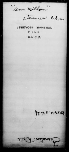 Gov, Milton - State: [Blank] - Year: [Blank]