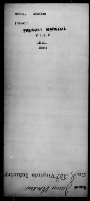 Grace, Absalom - State: [Blank] - Year: [Blank]