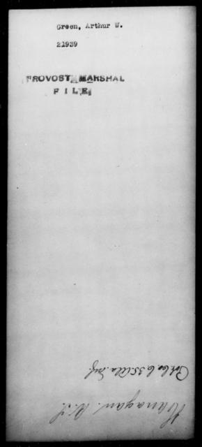 Green, Arthur W - State: [Blank] - Year: [Blank]