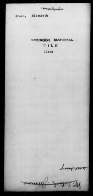 Green, Elizabeth - State: [Blank] - Year: [Blank]