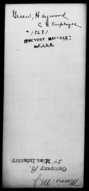 Green, Haywood - State: [Blank] - Year: [Blank]
