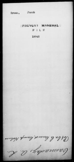 Green, Jacob - State: [Blank] - Year: [Blank]