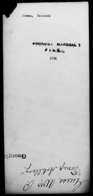 Green, Leonard - State: [Blank] - Year: [Blank]