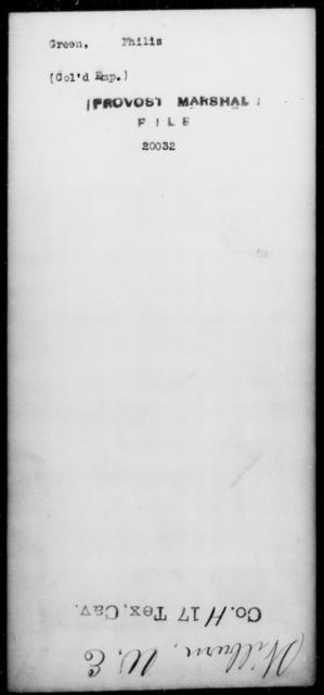 Green, Philis - State: [Blank] - Year: [Blank]