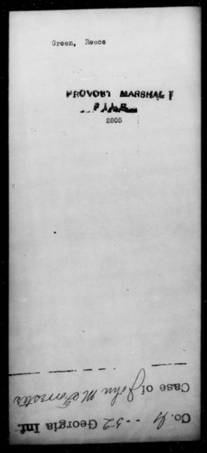 Green, Reece - State: [Blank] - Year: [Blank]