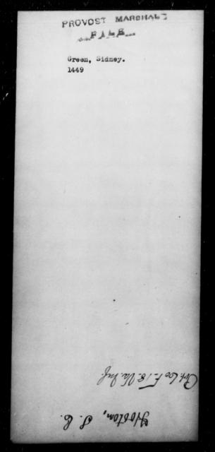 Green, Sidney - State: [Blank] - Year: [Blank]