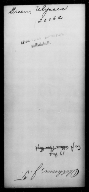 Green, Ulysses - State: [Blank] - Year: [Blank]