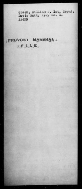 Green, William J - State: Arkansas - Year: [Blank]