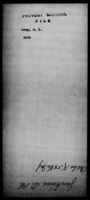 Grey, W T - State: [Blank] - Year: [Blank]