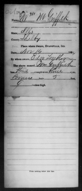 Griffith, Wm M - State: Illinois - Year: 1864