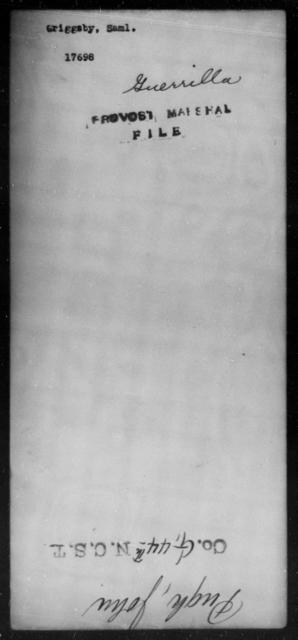 Griggsby, Saml - State: [Blank] - Year: [Blank]