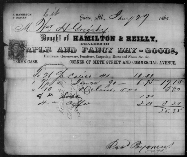 Grigsby, Wm H - State: Illinois - Year: 1865