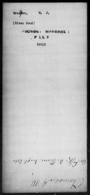 Grooner, W J - State: [Blank] - Year: [Blank]