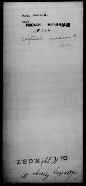 Gumg, Daniel N - State: Indiana - Year: [Blank]