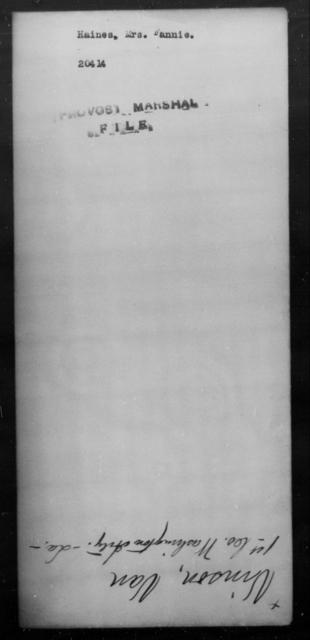 Haines, Fannie - State: [Blank] - Year: [Blank]