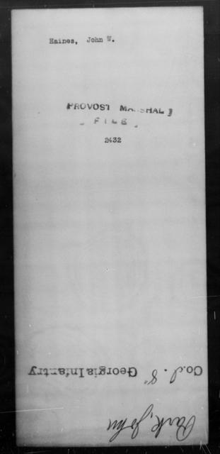Haines, John W - State: [Blank] - Year: [Blank]