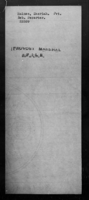 Haines, Zazriah - State: [Blank] - Year: [Blank]
