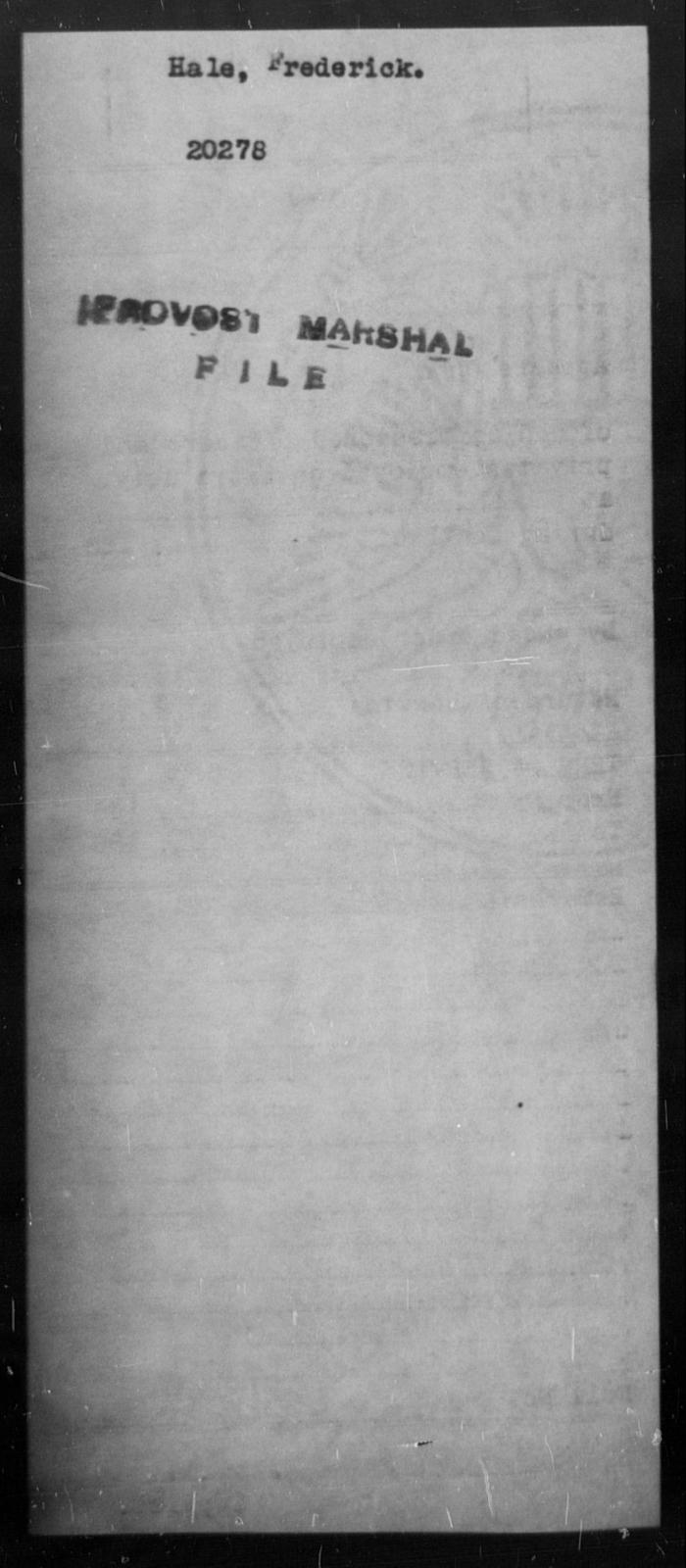 Hale, Frederick - State: [Blank] - Year: [Blank]