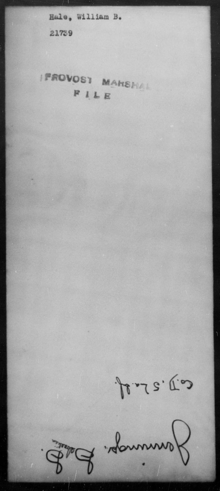 Hale, William B - State: [Blank] - Year: [Blank]