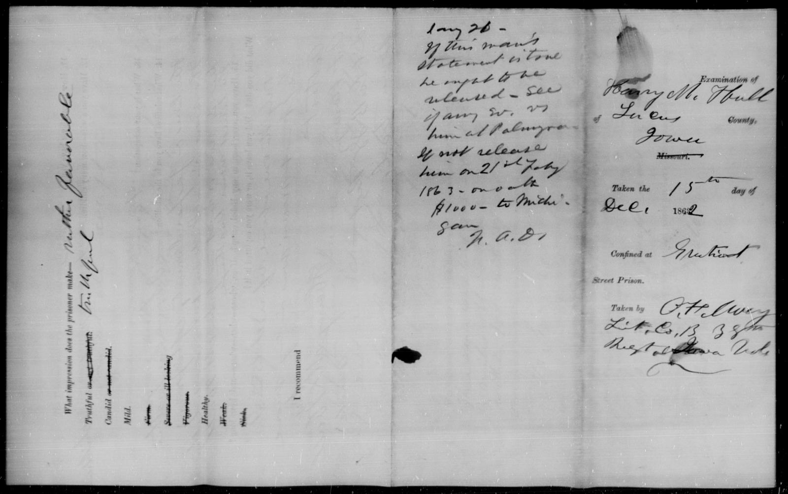 Hall, Henry M - State: Iowa - Year: 1862