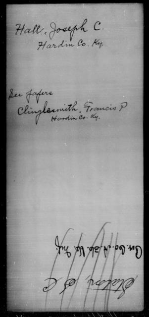 Hall, Joseph C - State: Kentucky - Year: [Blank]