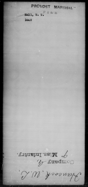 Hall, W T - State: [Blank] - Year: [Blank]